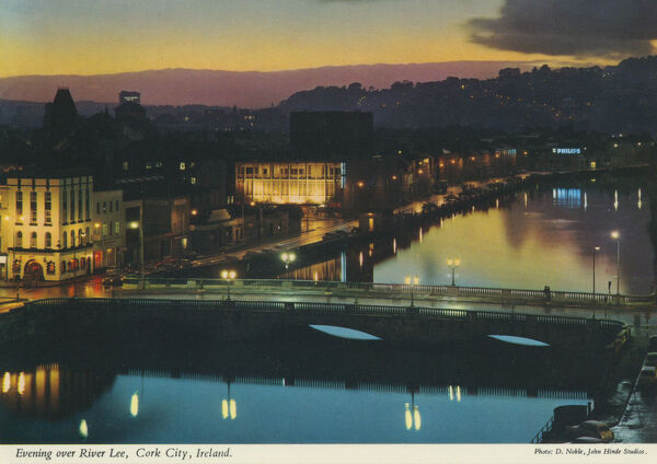 Evening Over River Lee, Cork City, Republic of Ireland