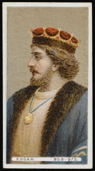 ENGLISH ROYALTY King Edgar I the Peaceable or Peaceful, King of England