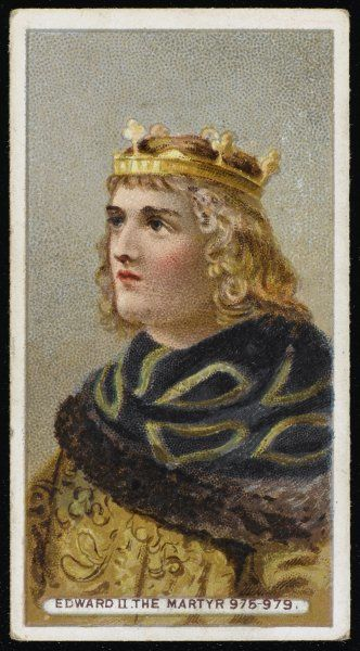 EDWARD THE MARYTR King of England (reigned 975-978), assassinated, possibly on the command of his stepmother, Aelfthryth, ambitious for her son Aethelred II