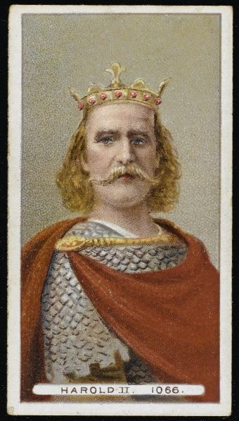 HAROLD II or HAROLD GODWINSON King of England, reigned for nine months in 1066, killed at Hastings