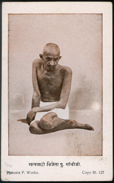 Indian nationalist and spiritual leader, MAHATMA GANDHI (1869-1948)