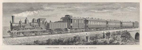 The Orient Express - countryfolk stop to watch the express go by