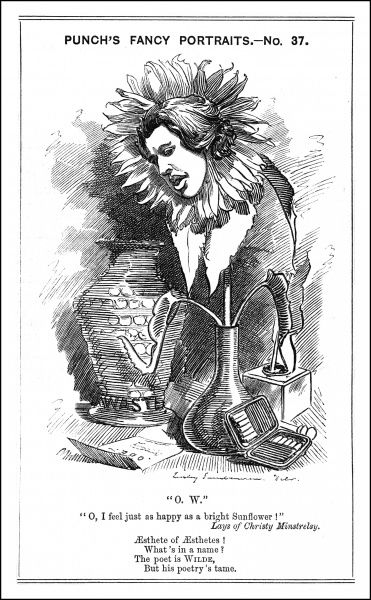 Oscar Wilde - IRISH PLAYWRIGHT Cartoon Portrayal