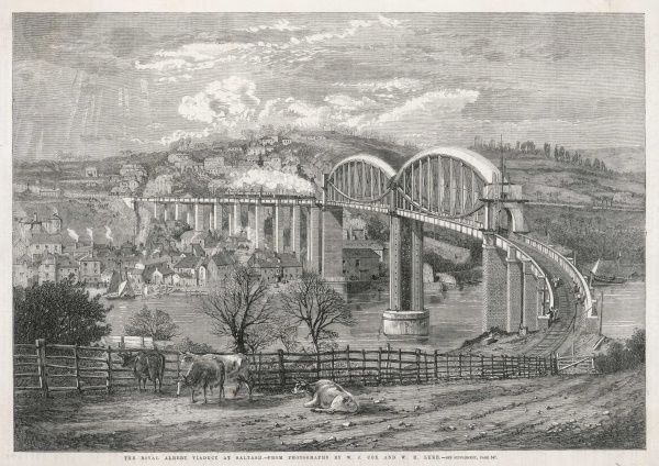 The Royal Albert railway bridge at Saltash, Cornwall
