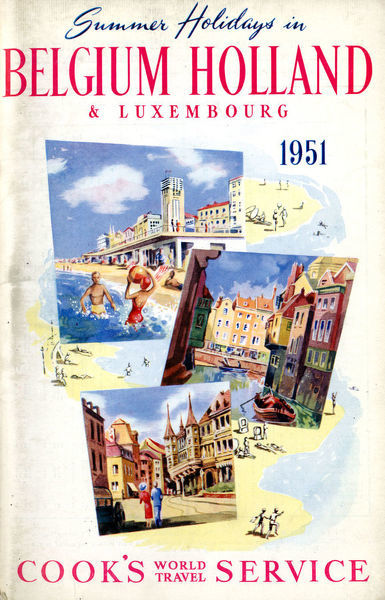 Thomas Cook Travel Brochure - Cover - Summer Holidays in Belgium, Holland and Luxembourg.     1951