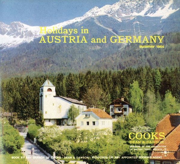 Thomas Cook Travel Brochure - Cover - Holidays in Austria and Germany, Summer 1964.     1964