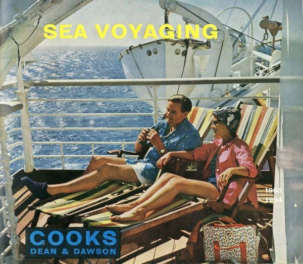 Thomas Cook Travel Brochure - Cover - Sea Voyaging.     1963