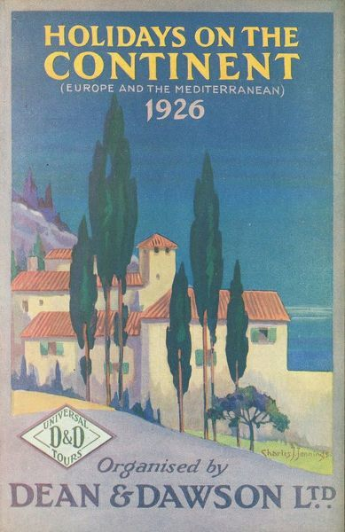 Thomas Cook Travel Brochure - Cover - Holidays on the Continent (Europe and the Mediterranean), organised by Dean & Dawson Ltd.     1926