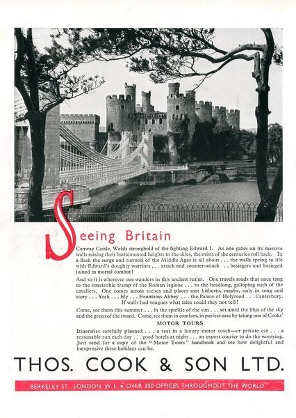 Thomas Cook - Travel Company - Advertisement - Seeing Britain.     20th century
