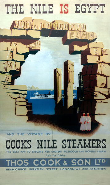 Thomas Cook Travel Company - Poster - The Nile Is Egypt - Cooks Nile Steamers.     20th century
