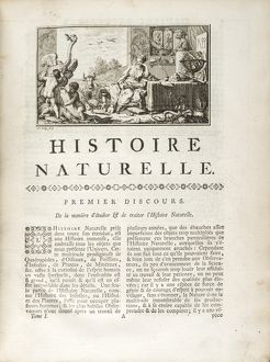 First page of first discourse: l'Histoire Naturelle.