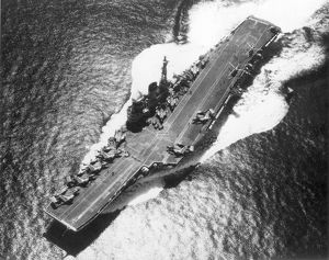 HMS Victorious (R38) approaching the Persian Gulf