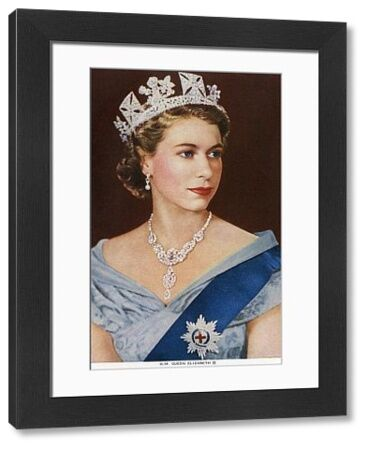 Her Majesty Elizabeth II - Queen of the United Kingdom and other Commonwealth realms (1926-). Date: 1955