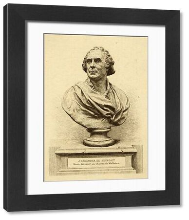 Portrait bust of Giacomo Casanova (1725-1798), Italian adventurer and author