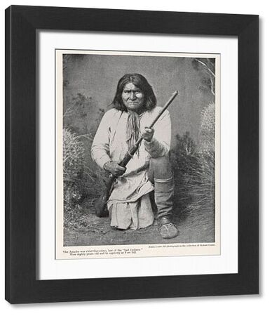 Geronimo (1829 - 1909), War Chief of the White Mountain Apache [in 1905]