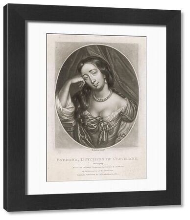 Barbara Villiers Cleveland (1641-1709), duchess, countess of Castlemaine mistress of Charles II