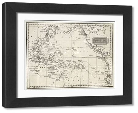 MAPS/PACIFIC OCEAN. Map of the Pacific Ocean on Mercator's projection