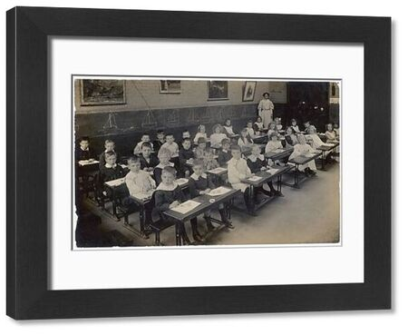 A drawing class in a North London primary school -- boys on one side, girls on the other