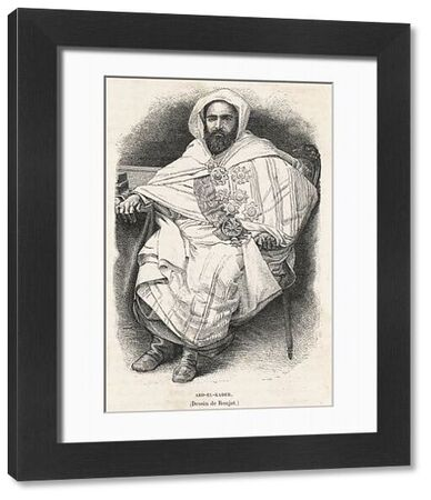 Abd El Kader (Abd al-Qadir, El Amir Abdelkader), Algerian Islamic scholar, Sufi, political and military leader who led a resistance to French occupation in the mid-nineteenth century