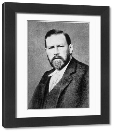 Bram Stoker, novelist and short story writer, best known for the gothic novel Dracula (1897). He was also theatre manager for Henry Irving at the Lyceum Theatre, London