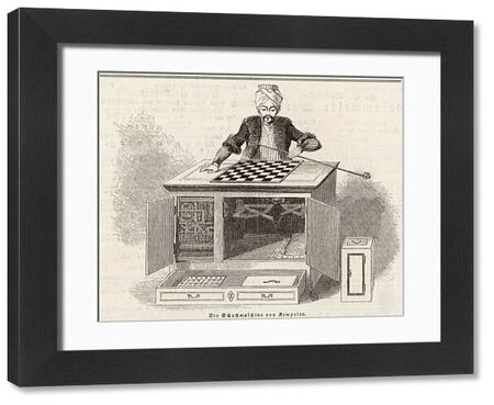 Wolfgang von Kempelin's Automaton Chess Player. It was created in Germany, was widely exhibited, and eventually reappeared in New York in 1845