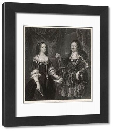 Ferdinand II de' Medici, Grand Duke of Tuscany, patron of the arts and pupil of Galileo, seen here with his consort and cousin, Vittoria della Rovere (1622-1694)