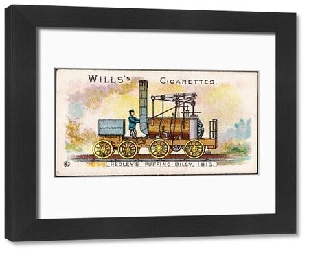 The 'Puffing Billy' locomotive, designed by William Hedley