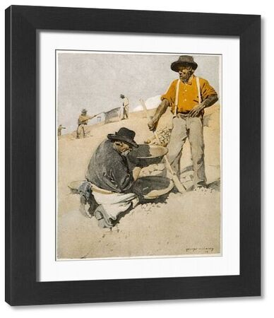 Prospectors panning for gold in Australia