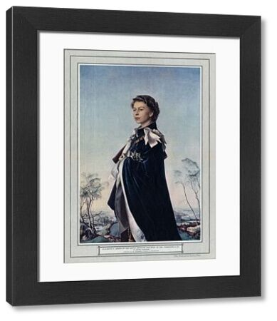Portrait of Queen Elizabeth II, Queen of the United Kingdom and Head of the Commonwealth (born 1926), by Pietro Annigoni 1953