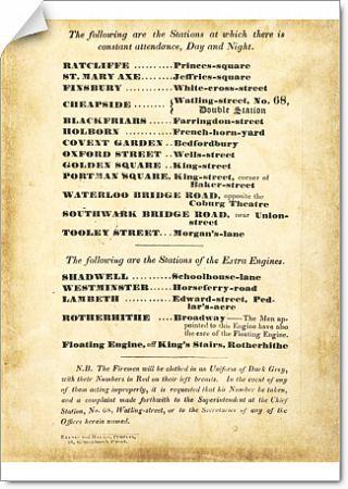 Formed in 1833, the LFEE took over firefighting in London from the various Insurance Company fire brigades. It had 19 fire stations and its headquarters was located at Watling Street, City of London