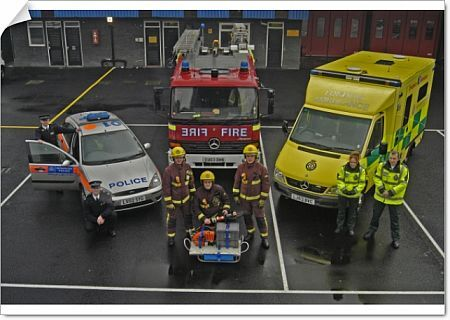 Multi service emergency vehicles and their personnel