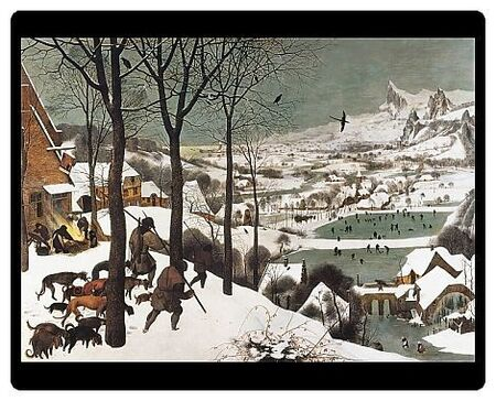 Breugel, Pieter, The Elder, called Peasant Bruegel (1525-1569). Hunters in the Snow. Work belonging to a series