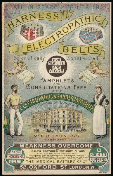 All in Search of Health should wear Harness' Electropathic Belts for Weak Men and Delicate Women ; they are Scientifically Constructed