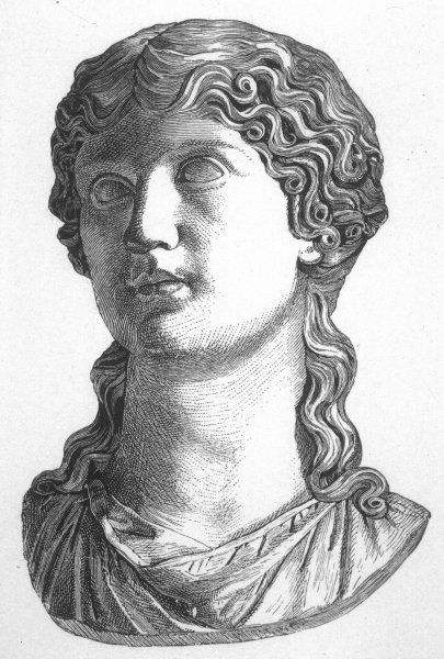 AGRIPPINA noble and heroic Roman woman, wife of Germanicus mother of Caligula