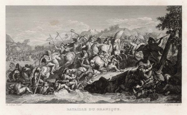 Alexander the Great defeats Persians on the river Granicus