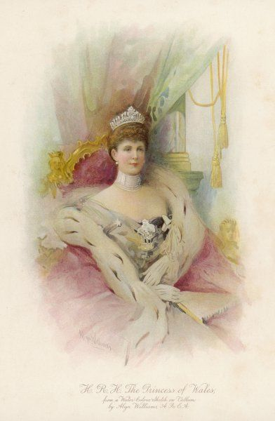 ALEXANDRA QUEEN TO EDWARD VII Illustration of 1902