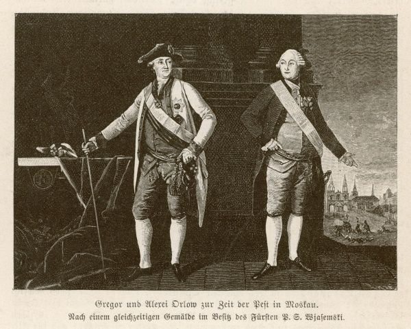 ALEXEI & GRIGORY ORLOV Count Grigory (1734-1783), general and statesman Alexei (1737-1808), military commander