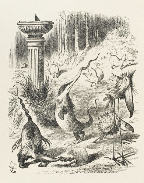 Toves, Raths and Borogroves - invented creatures of the Jabberwocky poem