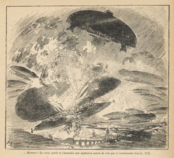 An American 'Flying Saucer' causes massive destruction among 'conventional' aircraft