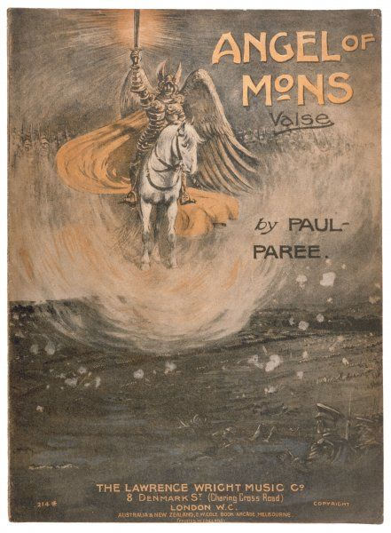 The Angel of Mons depicted on the cover of a valse by Paul Paree