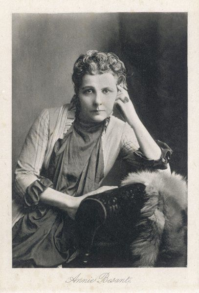 ANNIE BESANT English theosophist and Indian political leader