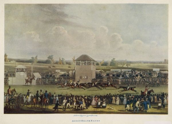 ASCOT, CIRCA 1818. Horse racing in the early 19th Century