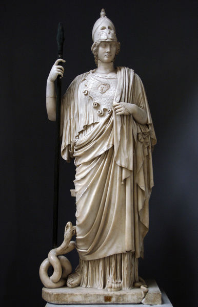 The Athena Giustiniani. Roman copy of a Greek statue of Pall