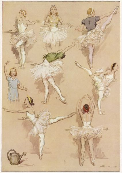 Ballet dancers exercising at the French Academie de Musique et de Danse. (1 of 2)