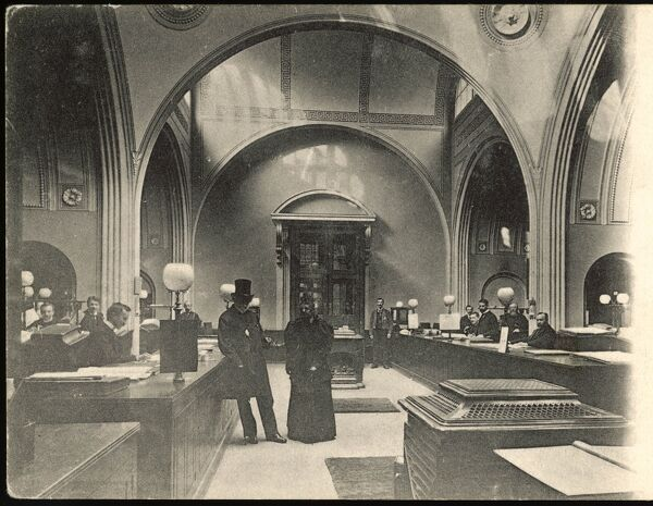 The Bank of England: scene inside the Corporation and Colonial Stocks Office