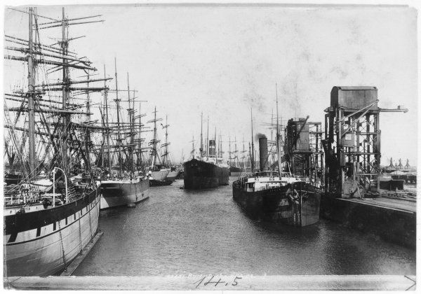 BARRY DOCKS 1899. The old and the new, Barry Docks