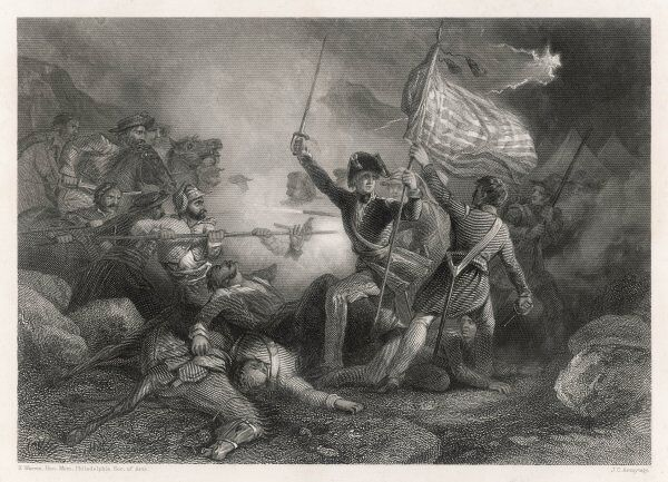MEXICAN-AMERICAN WAR American victory at Buena Vista: Major Dix on the battlefield