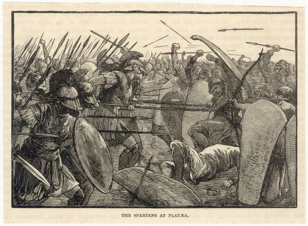 BATTLE OF PLATAEA The Greeks, led by the Spartan Pausanias, defeat a Persian army twice their size, thereby freeing Greece from the Persian menace