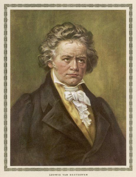 LUDWIG VAN BEETHOVEN German composer
