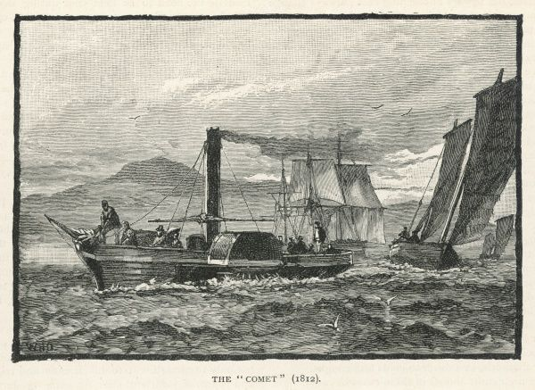 Henry Bell's 'Comet' which plied on the Clyde from 1812 till 1820 - the first practical steamboat on any European river